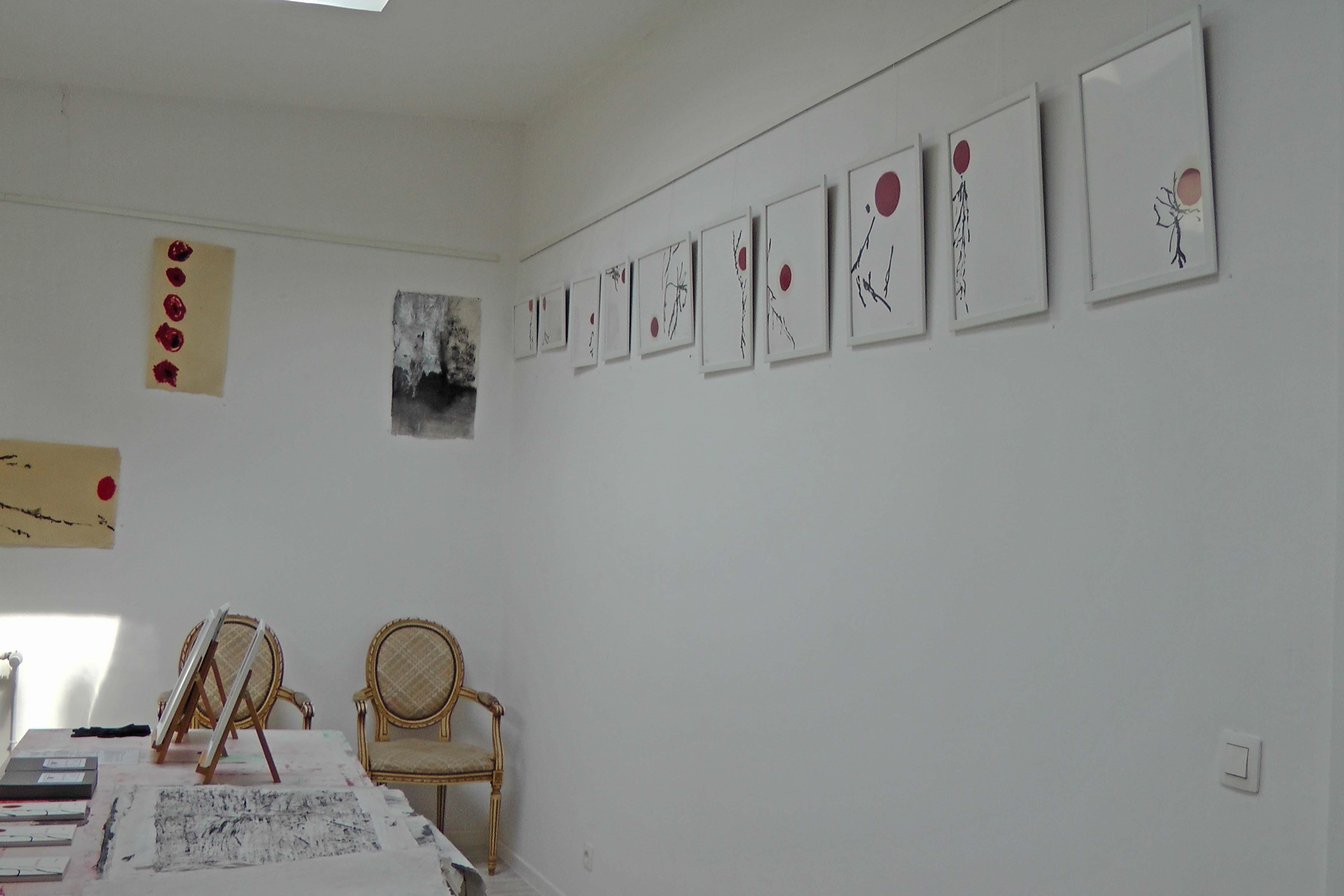 Atelier de Rachel Silski, série Traces de Coquelicots et série Très doucement