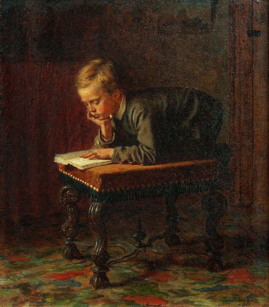 Eastman Johnson, Reading Boy, 1863