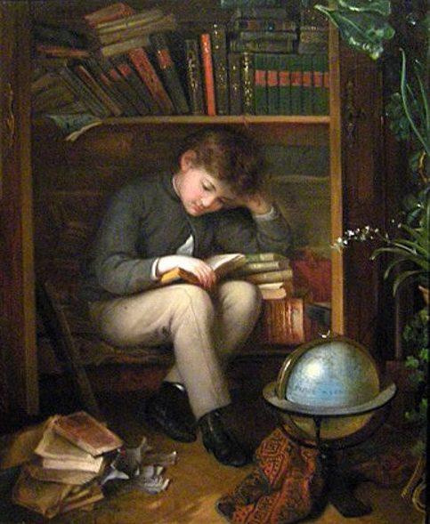 Eduard Swoboda, Garcon lisant, 1814 1902