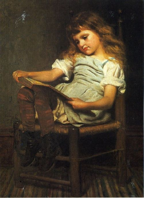 John George Brown, 1831-1913, Girl reading