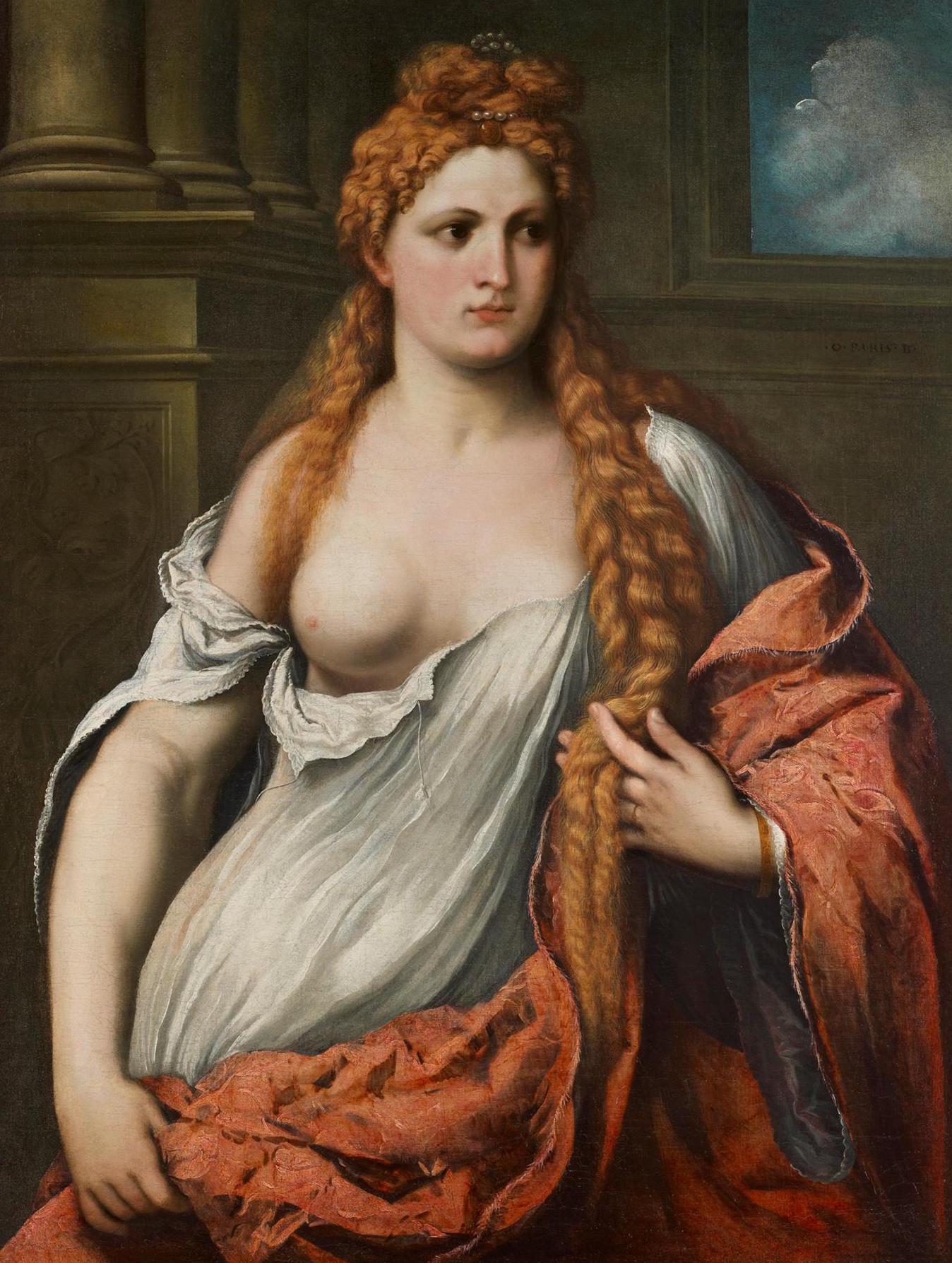 Paris Bordone, Portrait d'une jeune femme, (1540), collection privée.