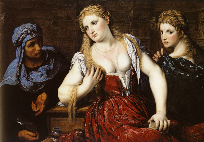 Paris Bordone, Vénitienne à sa toilette, 1545, National Gallery of Scotland