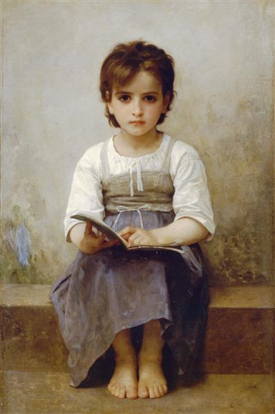 Bouguereau William Adolphe, The hard lesson, 1884