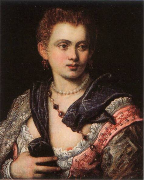 Veronica Franco par Le Tintoret, 1575, Worcester Art Museum, Worcester, Massachusetts