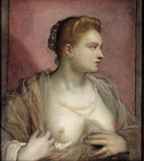 La courtisane Veronica Franco, Le Tintoret, 1555, Musée du Prado