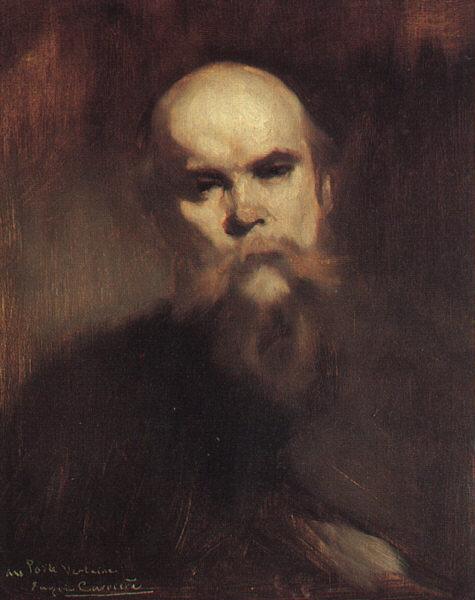 Paul Verlaine portrait par Eugène Carrière, 1890