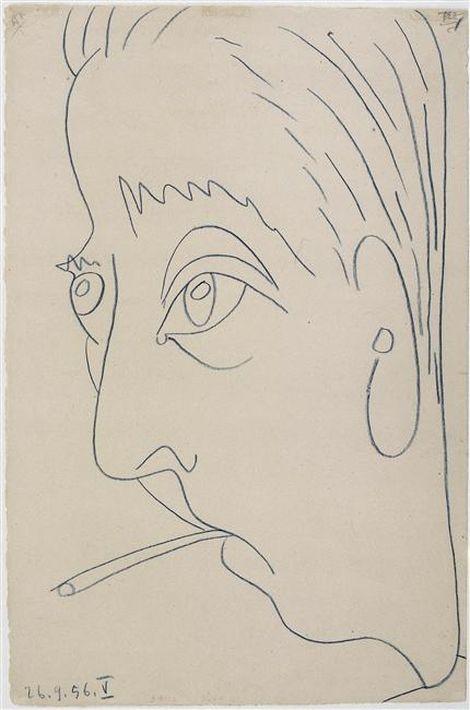 Pablo Picasso, Portrait de Jacques Prévert, 1956, museepicassoparis.fr