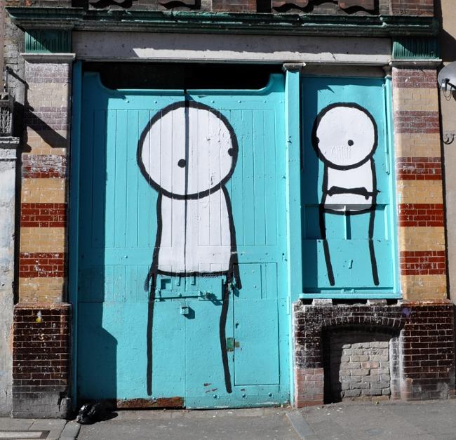 Stik, Street Art, London, Pitfield Street, Art Thief