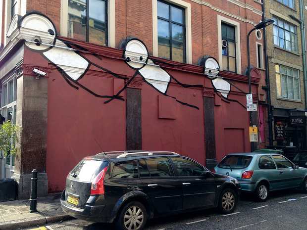 Stik, Flight, Hoxton Square, Hackney, London, 2012, photograph: Dan Beecroft, theguardian.com