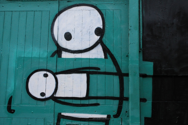 Stik, Street Art, London Pitfield Street, Art Thief, streetartlondon.co.uk