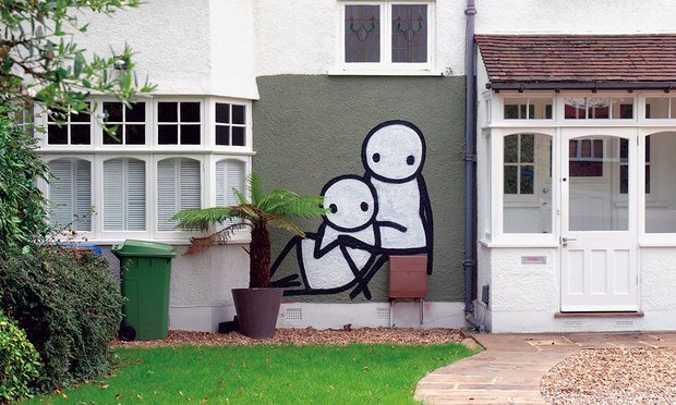 Stik, street art, Court Lane, Dulwich, pinterest.com
