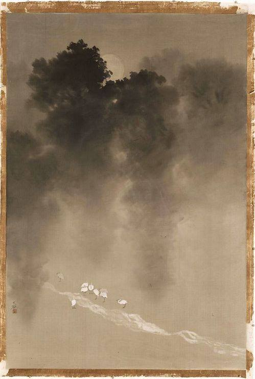Yokoyama Taikan, Moonlight in the Woods about 1904-1905, Museum of Fine Arts, Boston