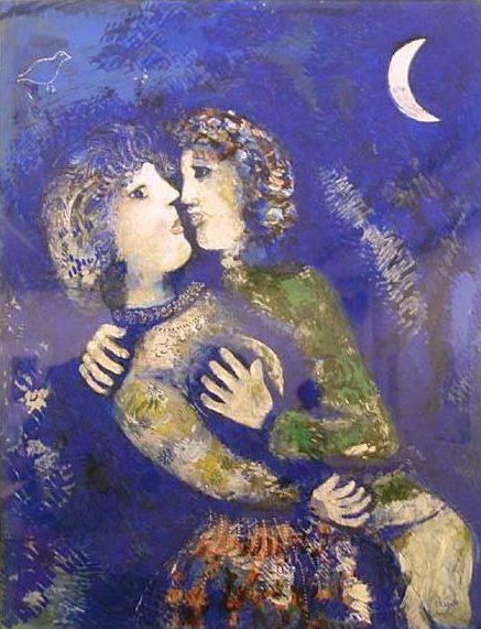 Marc Chagall, Les amoureux à la demi-lune, 1926, StedelijkMuseum, Amsterdam