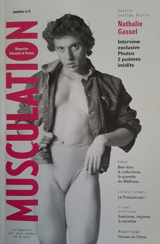 Nathalie Gassel en couverture de Musculation magazine
