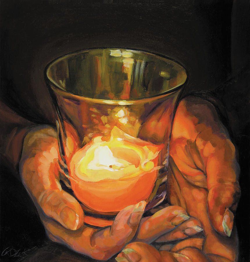 Rebecca Zook, Hands by candlelight, fineartamerica.com