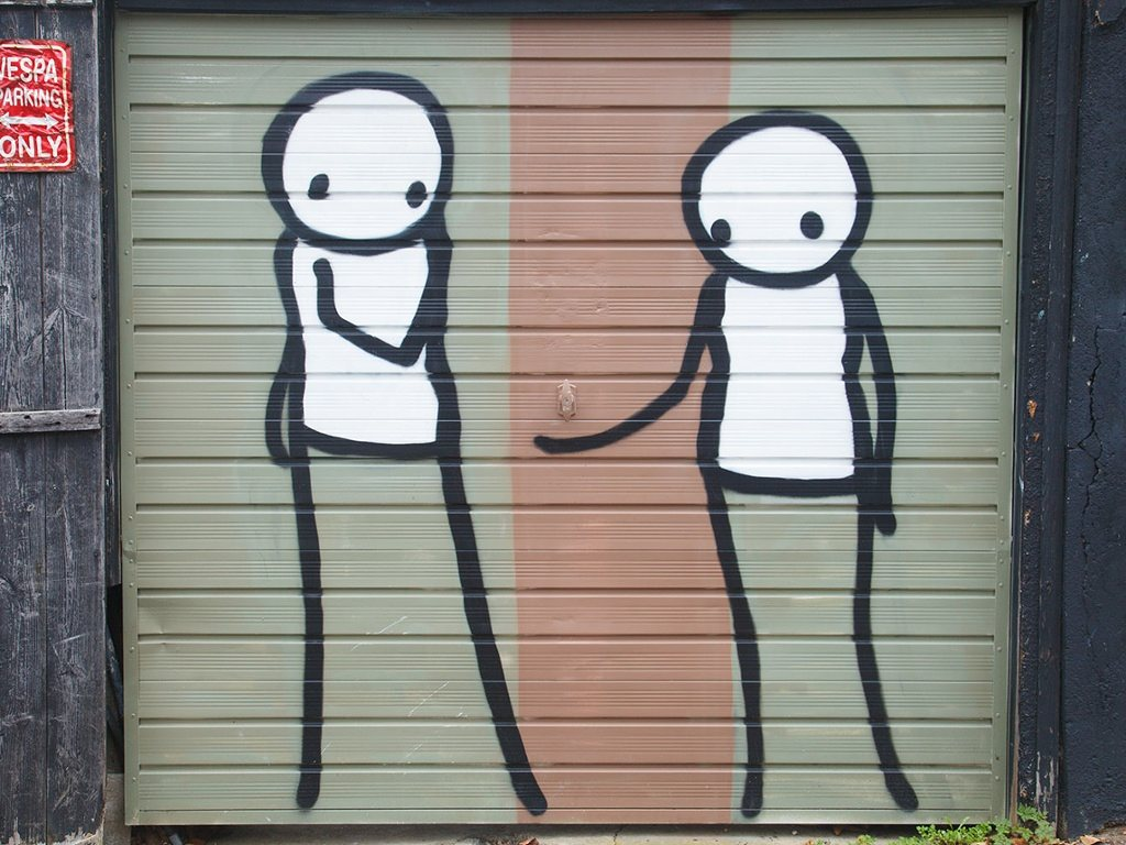 The Fall of Man (2012), Stik, The Mooring, Townley Road/Beauval Road, London, SE22, photograph: Peter Falkner, theguardian.com