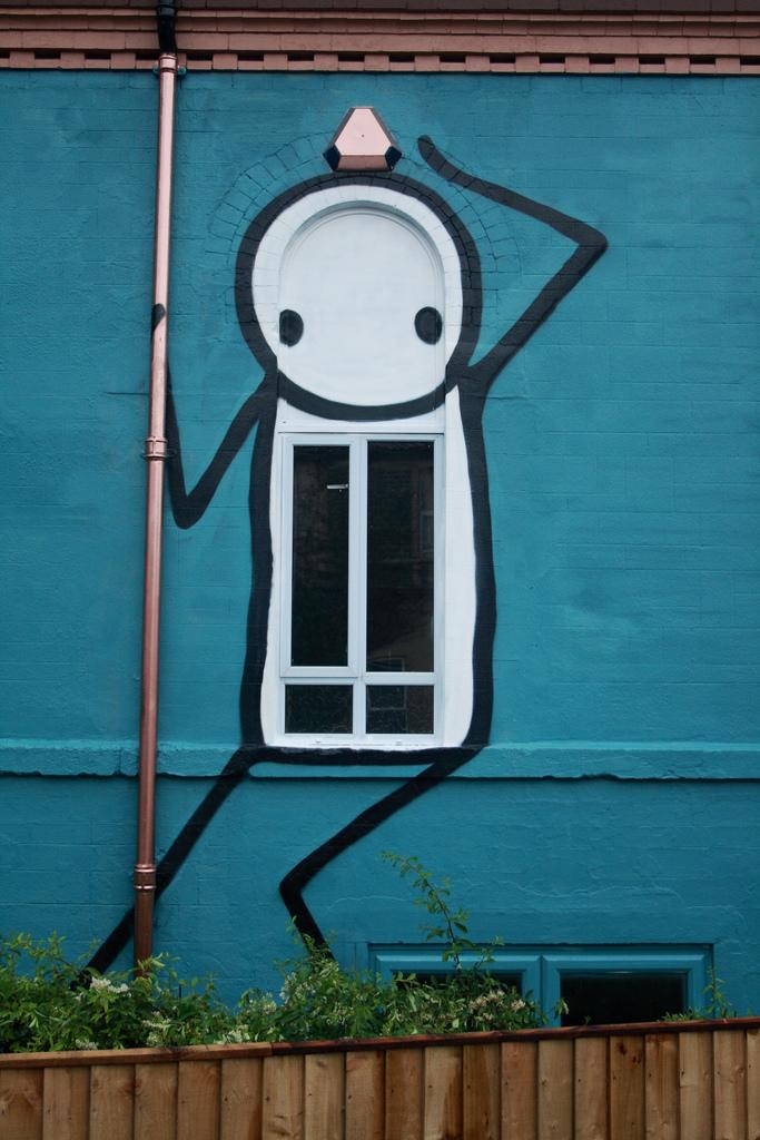Stik, Street art, Bristol, 2012