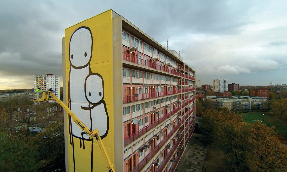 Stik, Big Mother, on the side of Charles Hocking House, photograph: Joce Division, theguardian.com