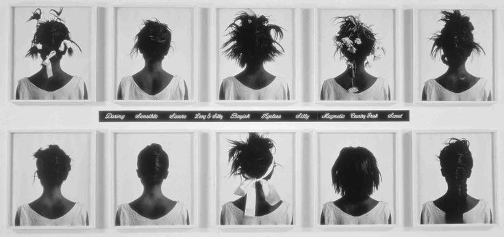 Lorna Simpson, Stereo Styles (1988), pinterest.com