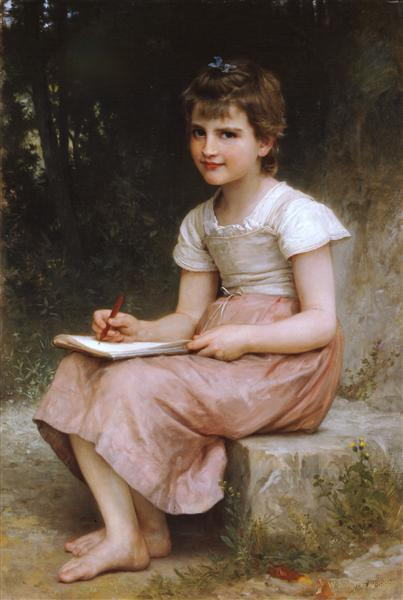 William-Adolphe Bouguereau, Une vocation, 1896, www.wikiart.org