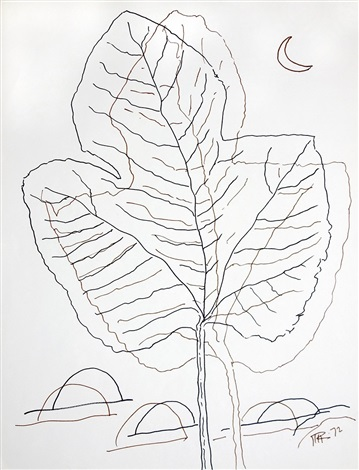Man Ray, Leaf Drawing, 1972, artnet.fr